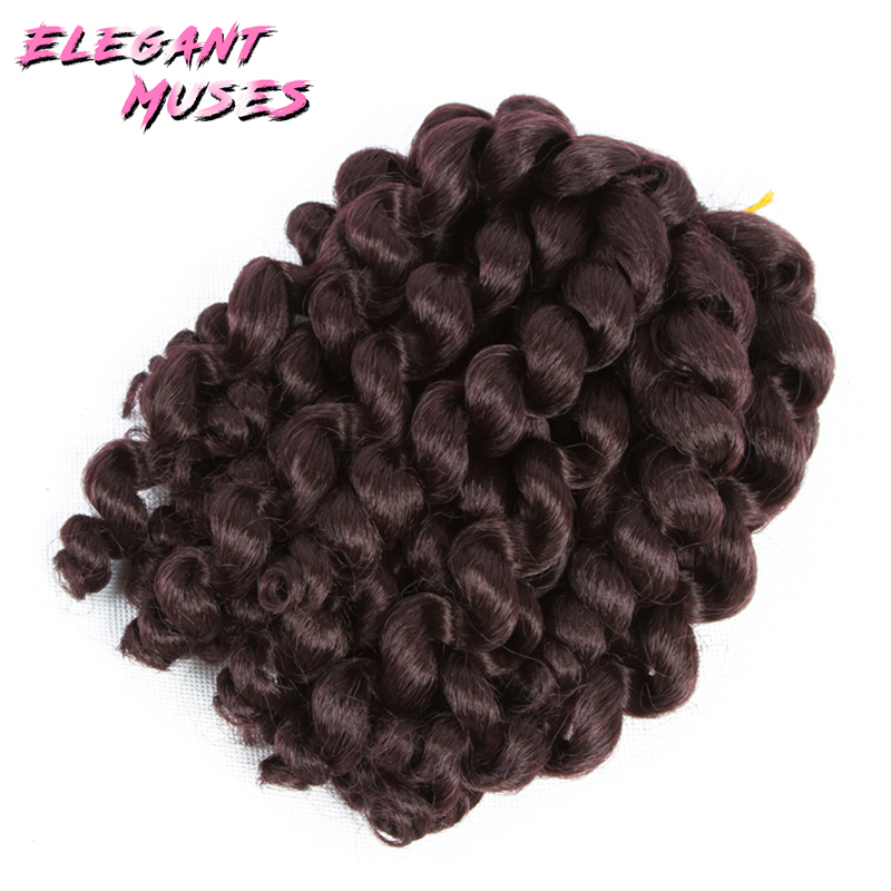Jamaicansk studs krulle twist hår tresse virka flätor hår - Syntetiskt hår - Foto 1