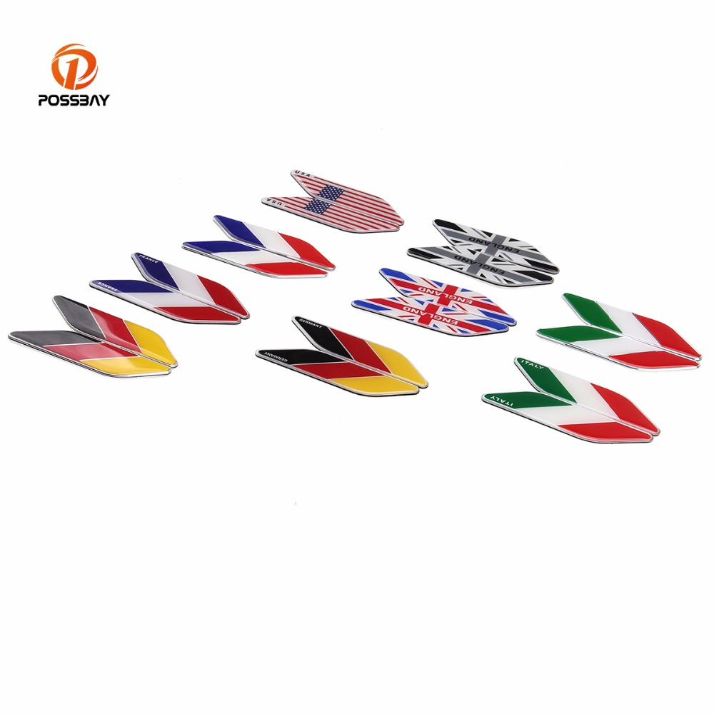 Automobiles & Motorcycles Dutiful Possbay 3d National Logo Car Stickers And Decals Universal For Iveco Lamborghini Alfa Romeo For Fast Shipping