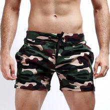 Bawełna luźne do biegania szorty treningowe mężczyzn Gym Fitness Parkour szkolenia szorty sportowe oddychające potu kamuflaż szorty człowiek tanie tanio Bieganie desmiit Pasuje prawda na wymiar weź swój normalny rozmiar SEOBEAN COTTON Camouflage Sport Shorts M L XL (Asian Size)