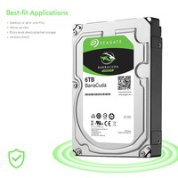 Seagate ST6000DM003 6 ТБ Desktop HDD внутренний жесткий диск 5400 об./мин. SATA 6 ГБ/сек. 256 МБ Кэш 3,5 дюймов HDD диск компьютера