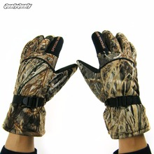 Plus Velvet Thick Winter Gloves Camo Windproof Waterproof Anti-slip Camouflage Outdoor Movement Fishing Hunting Gloves цена