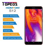 HOMTOM S12 Smartphone Quad Core Android 6 0 Mobile Phone 5 0 Inch 18 9 Display