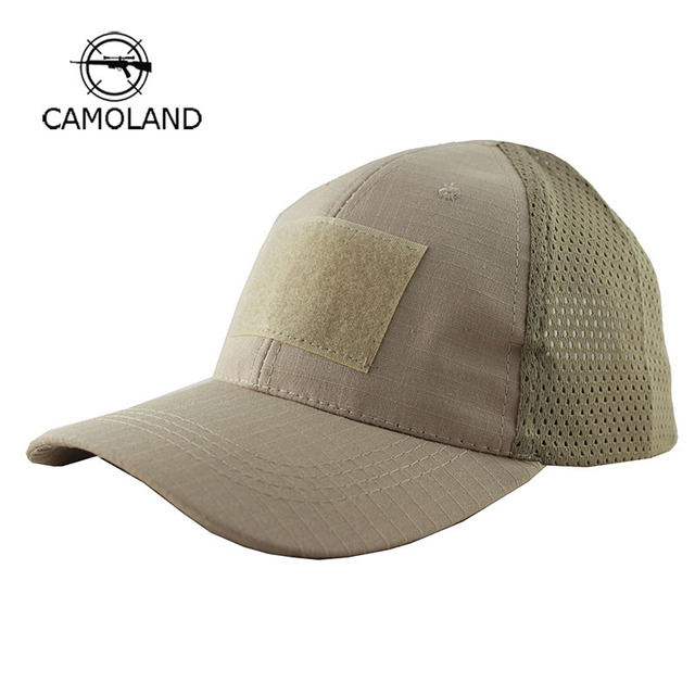 2018 Summer Breathable Mesh Tactical Army Baseball Cap Men Women Hook And  Loop Badge Patch Camouflage f711c879b1