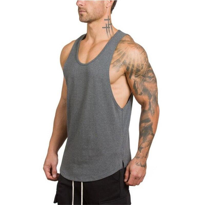 Marca mens sin mangas camisetas verano algodón Camisetas de tirantes gyms ropa bodybuilding tanque Tops camisetas