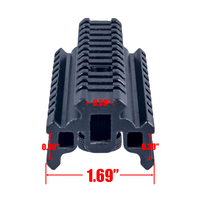 ANS AR15 Aluminum Alloy Tactical Scope Riser Base Mount 20mm Adapter Bracket For Picatinny Weaver Rail
