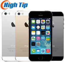IPhone 5 S Pabrik Dibuka Asli 16 GB/32 GB/64 GB ROM 8MP Touch ID ICloud Aplikasi toko WIFI GPS 4.0 Inch Sidik Jari IOS(China)