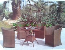 Brown rattan outdoor funiture set