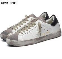 2017 Для мужчин грязную обувь мужская повседневная женская повседневная обувь на плоской подошве грязный Искусственная кожа пара сделать старый обувь модные звезда обувь tenis feminino