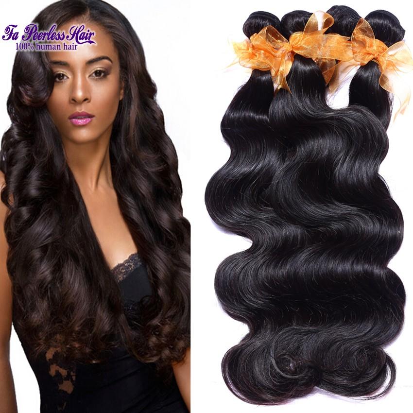 6A Brazilian Virgin Hair Body Wave Hair Weave Bundles 4 Pcs Wholesale Cheveux Bresilien Hair Extension 60Cm Westkiss Alibaba-001