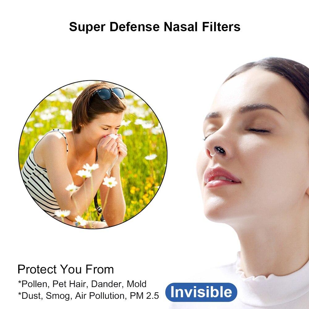 WoodyKnows Filtros nasales ultra transpirables