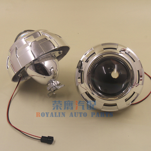Image 4 - ROYALIN Car Styling 3.0 Bi Xenon H1 Projector Lens Metal Holder LHD RHD for Apollo 3.0 Shrouds w/Devil Eyes for H4 H7 Auto Lamps