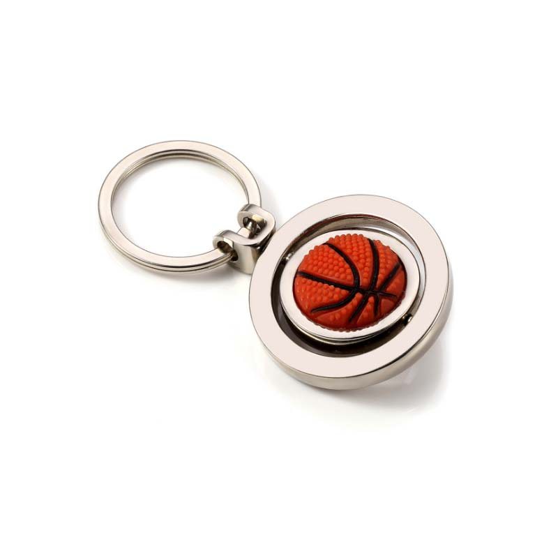 Sports Basketball Key Chains 3D Round Ball Basketball Key Rings Backpack Buckle For Sport Fans Fitness Jewelry