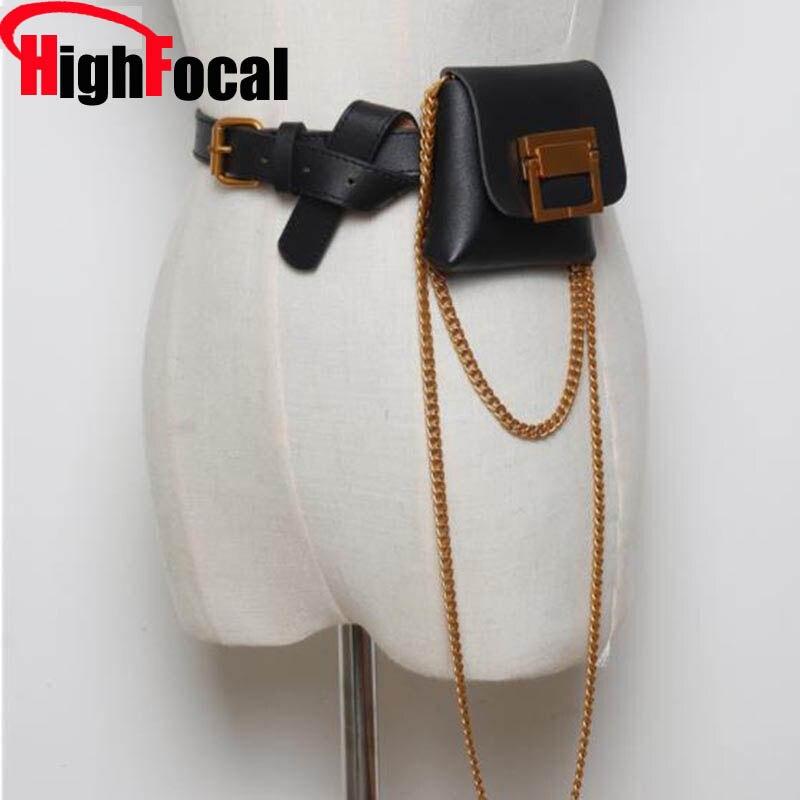 Women PU Leather Waist Bag Casual Belt Shoulder Zipper Crossbody Chest Bag  WF