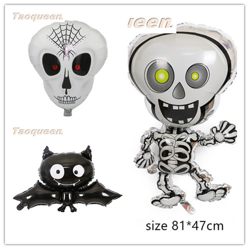 Halloween Decoration Balloons For Halloween Party Foil Balloons Ghost Festival Pumpkin Bat Helium Party Decoration  Cartoon Hat