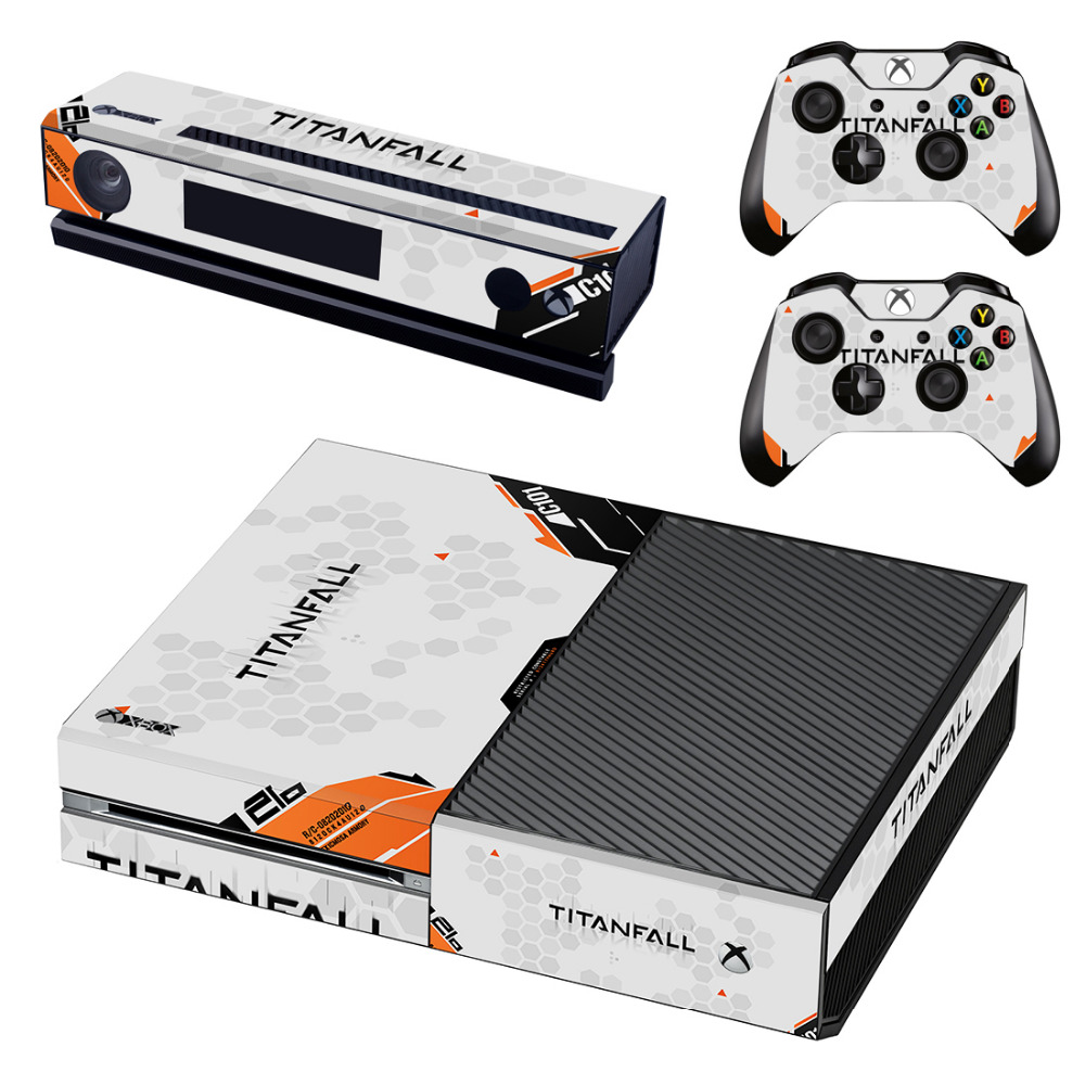 Titanfall Skin Sticker for Microsoft Xbox One Kinect and Console and 2 Controllers Vinyl Game Stickers