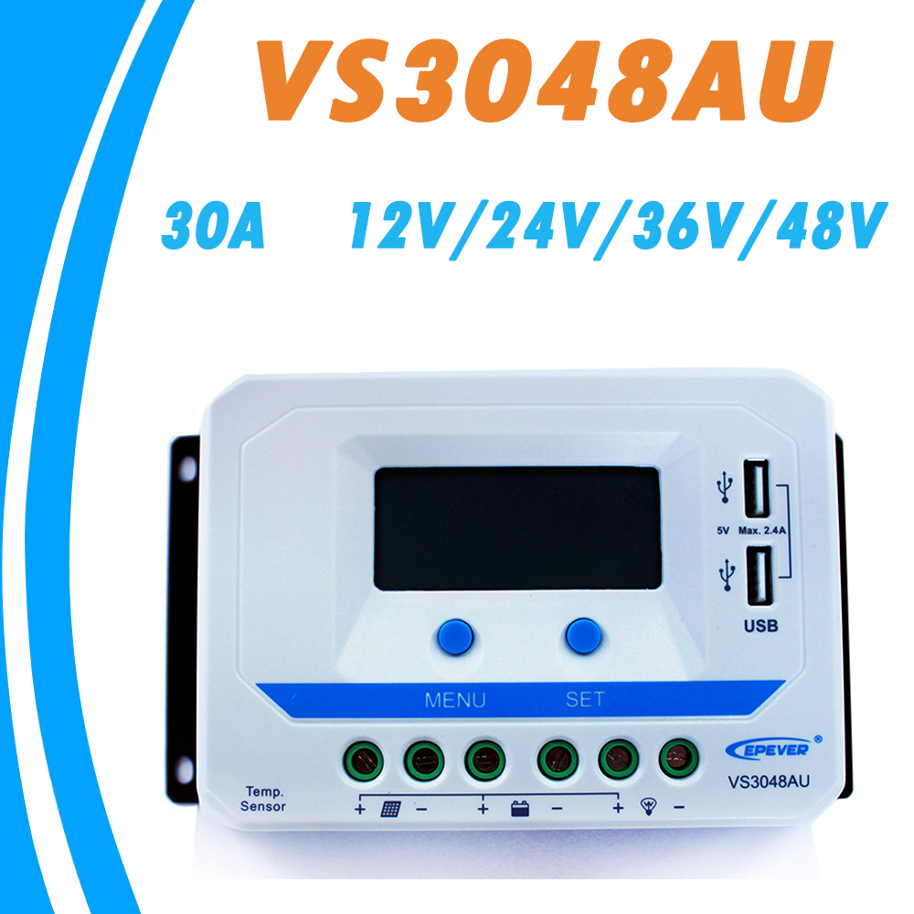EPEVER 30A Solar Controller 12V 24V 36V 48V Auto VS3048AU PWM Charge Controller with Built in LCD Display and Double USB 5V Port 80 1 electric experimental centrifuge medical lab centrifuge laboratory lab supplies medical practice 4000 rpm 20 ml x 6