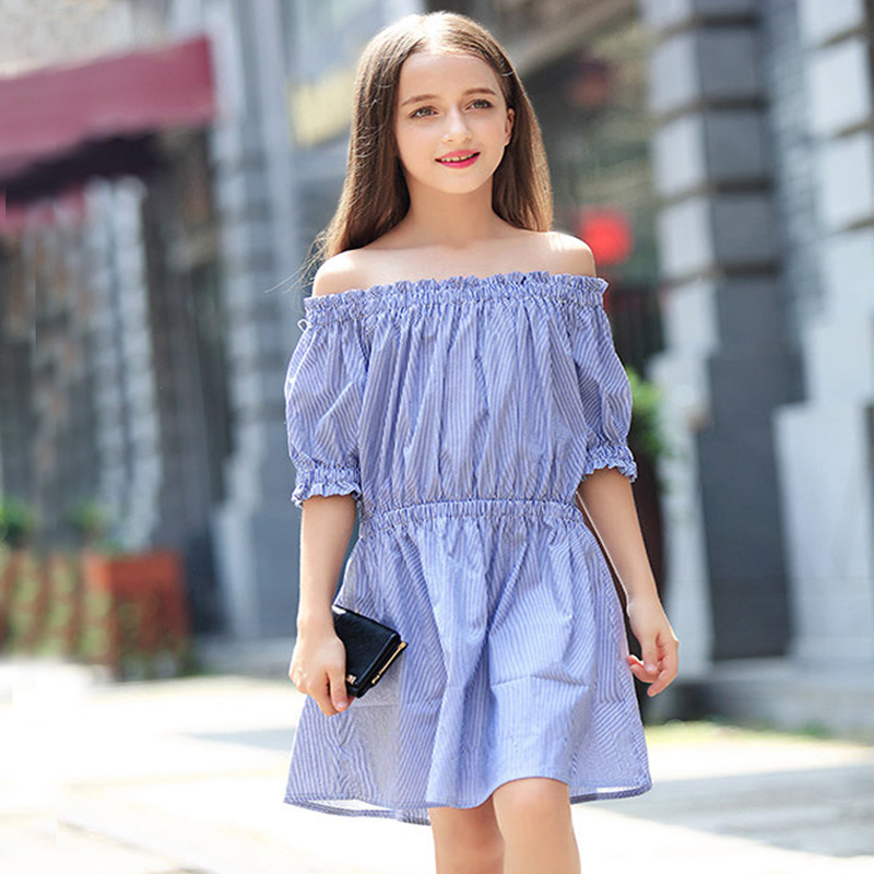 summer 2018 big girl striped dress teenage girls dresses little girls clothing size for 4 5 6 7 8 9 10 11 12 13 14 15 years kids elegant little girls dresses summer 2018 big girl dress teenage clothing kids dresses size for 3 4 5 6 7 8 9 10 11 12 years