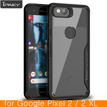 for Google Pixel 2 Case Original IPAKY Pixel 2 XL Silicone Acrylic Hybrid Shockproof Transparent Case for Google Pixel 2 XL Case(China)