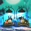Japan Anime My Neighbor Totoro Led Night Light Doll Studio Ghibli Kaonashi Miyazaki Hayao Spirited Away Resin Action Figure Toy