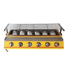 BBQ Grill 6 Burners LPG Gas Smokeless Barbecue Grill Outdoor Picnic Garden Commercial Household Yellow цены