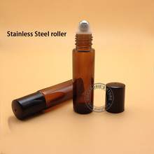 10PCS 10ML glass roll on bottle for essential oils,roll on bottle 10ml glass,amber roll-on glass bottle  alobon 10ml 120