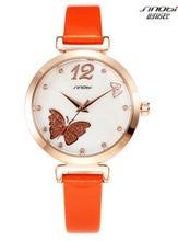 Relogio Feminino Mujeres de Cuero Reloj De cuarzo Marca SINOBI Moda Reloj Montre Femme Top Damas de Cuarzo Reloj de Pulsera de Lujo