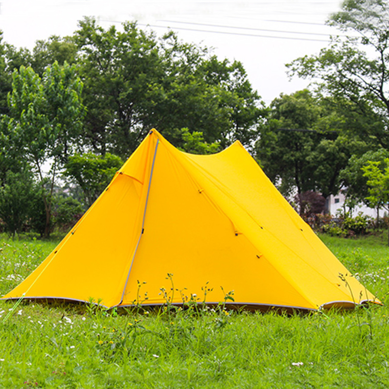 2 People Oudoor Ultralight Camping Tent 3 Season 2 Person Professional 20D Nylon Silicon Coating Rodless Tent Pyramid 210t oudoor light weight backpacking ultralight camping rodless pyramid tent for hiking camping fishing wind firm waterproof