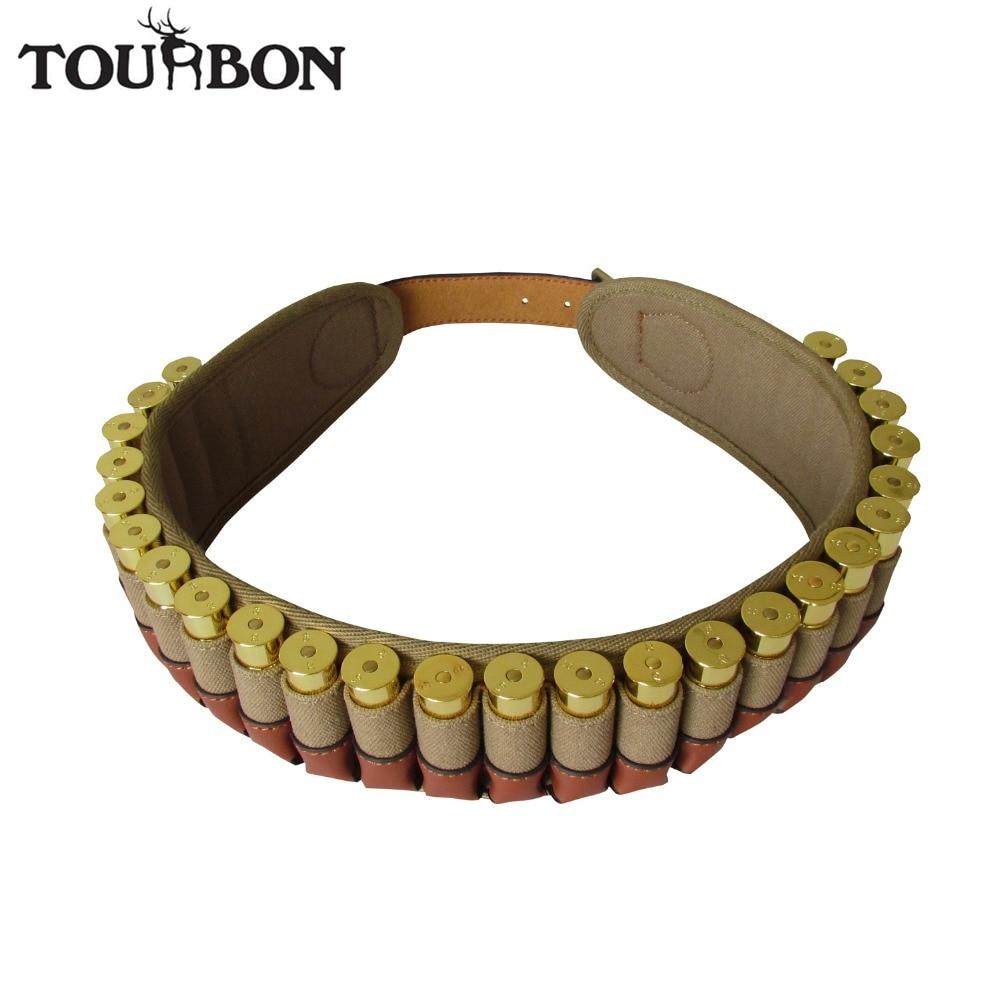 Tourbon Tactical Shotgun Ammo Cartridge Belt Holds 25 Shells 20 Gauge Bandoleer Adjustable for Shooting Guns Gun Accessories