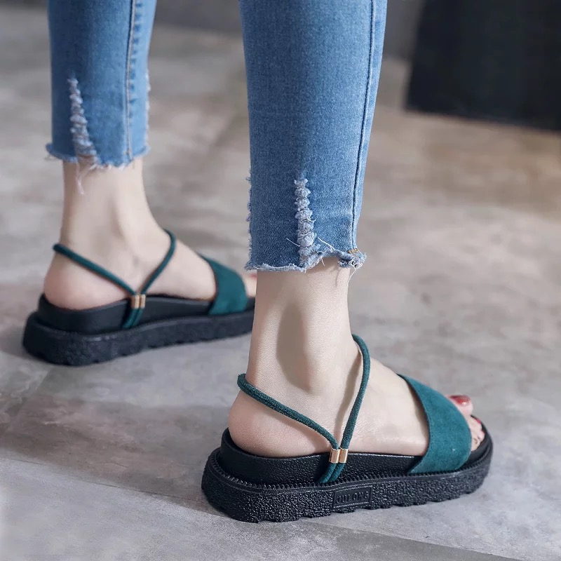 2018 Summer Women Sandals Open Toe Flip Flops Womens Sandles Thick Heel Women Shoes Korean Style Gladiator Shoes