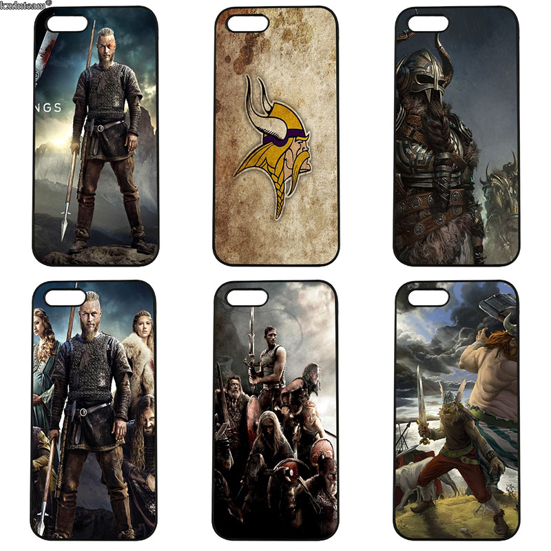Ragnar Lothbrok Vikings Film Phone Cases Hard PC Plastic Cover for iphone 8 7 6 6S Plus X 5S 5C 5 SE 4 4S iPod Touch 4 5 6 Shell
