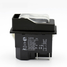 KJD16 220V 120V 4Pins Electromagnetic Push Button Switch On Off Switches with Overload Protection UVLO for Electric Power Tools