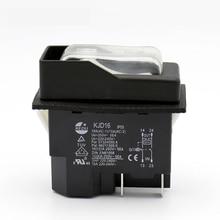 KJD16 220V 120V 4Pins elektromanyetik basmalı düğme anahtarı kapalı anahtarları aşırı yük koruması ile UVLO için elektrikli araçlar