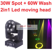2016 New Led Moving Head Light 30W Spot 60W Wash 2in1 Mini Stage Lights DJ Disco