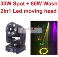 2016 New Led Moving Head Light 30W Spot 60W Wash 2in1 Mini Stage Lights DJ Disco