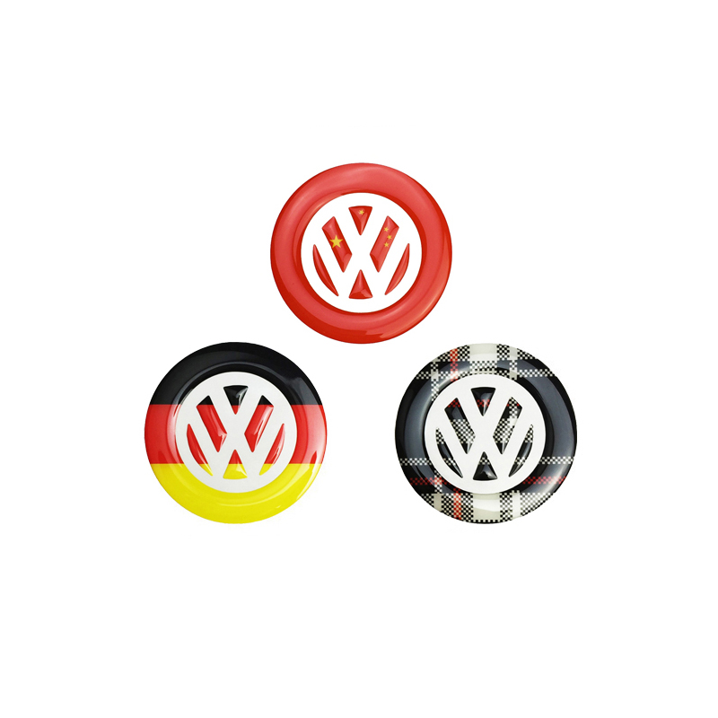 Auto Flag Styling Badge Steering Wheel Emblem stickers For Volkswagen VW POLO 2011+ Car Interior Logo Cover Decoration