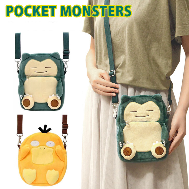 Anime Pokemon Women Shoulder Bag Pocket Monsters Pikachu Psyduck Charmander Small Crossbody Bags Messenger Phone Bags 8 Inch