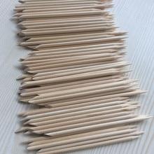 Useful Nail Brush 50/100pcs/bag Nail Art Wood Sticks For Nail Art Decorations Cuticle Pusher Remover Pedicure Manicure ToolS цена