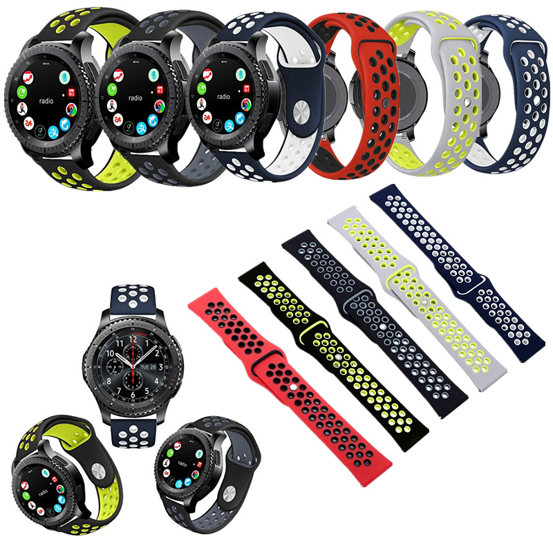 ASHEI Soft Silicone Watchbands For Samsung Gear S3 Strap Watch band Sport Silicone Bands Replacement Bracelet Strap For Gear S3 large small size sport silicone replacement watch wrist strap bands for samsung gear fit 2 r360 watch band conjoined watch band