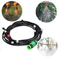 Agricultural Garden Watering Irrigation System Watering Kit with PVC Hose Misting Sprinkler Dripper Tee Adaptor