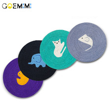 Cat Toy Sisal Scratching Mat Durable Lovely Pattern amazingly cat toy creative and funny pet toys