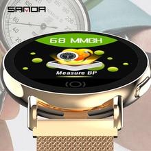SANDA smart watch heart rate blood pressure monitoring multi sports health message call reminder men and women smart bracelet