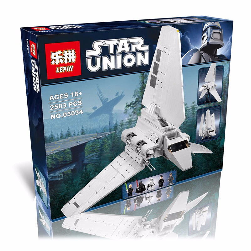 (Lis) New LEPIN 05034 2503Pcs Star Wars Imperial Shuttle Model Building Kit Block Bricks Compatible Children Toy Gift With 10212 lepin 22001 pirate ship imperial warships model building block briks toys gift 1717pcs compatible legoed 10210
