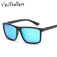 VeBrellen Fashion Unisex Square Vintage Polarized Sunglasses Men Women Metal Design Retro Sun Glasses gafas oculos UV400 VJ125
