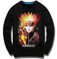 New Fall and Winter Anime Naruto hoodie Uzumaki Naruto Kakashi hooded long sleeved Men Casual brushed warm Cotton Coat