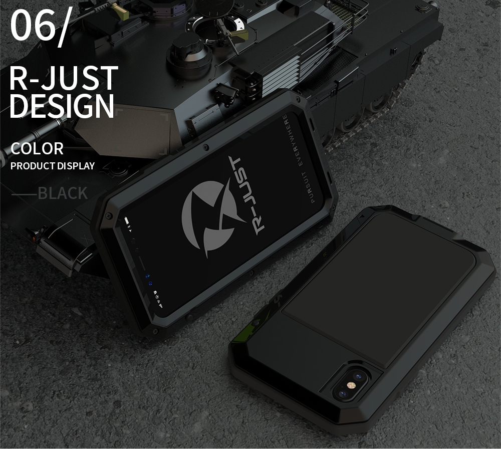 For iPhone X Tactical Waterproof Case (17)