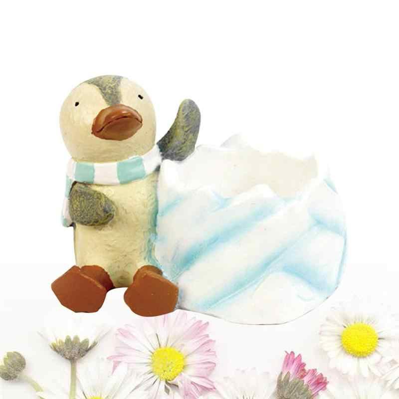 BESTOYARD かわいいクリエイティブ装飾漫画リトルペンギン植木鉢植木鉢子供の部屋のデスクトップの装飾家の装飾