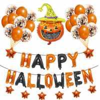 43 pièces joyeux Halloween Ballons fête décoration heureux Halloween lettre Ballons Halloween fête décor ballon fournitures Globos S8XN
