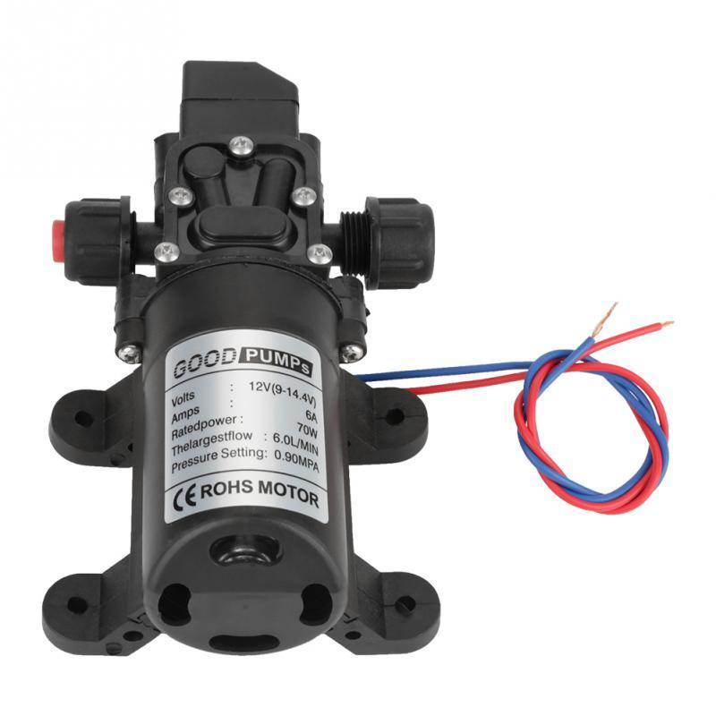 Dc 12 V 70 Watt Selbst Pumpe 0.9mpa 6 Lmin Wasser Hochdruck Membran Pumpen Werkzeug Angenehm Bis Zum Gaumen Sanitär