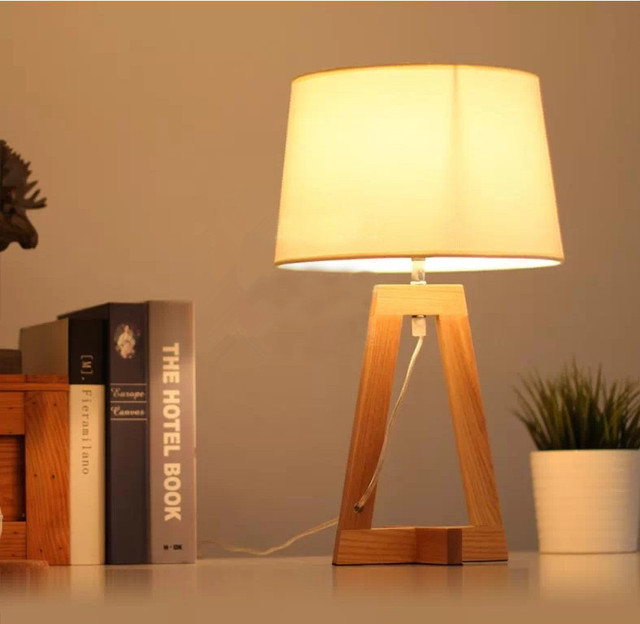 Log Lamps / Room Study Decoration Table Lamp / Factory Wholesale Creative  Design Wood Table Lamp