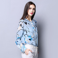 100 SIlk Crepe Women Shirt Pure Natural Silk Fabric New Arrival Office Lady Women Long Sleeve